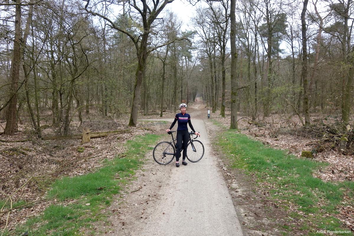 Fietsen door het bos in Rhenen